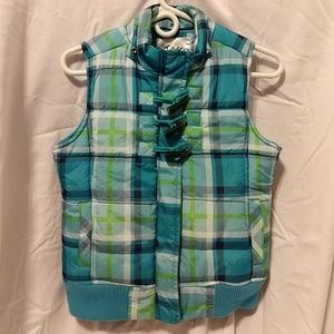 Justice Teal & Lime Puffer Vest